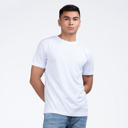 BOXY Microfiber Round Neck Plain T-shirt (White)