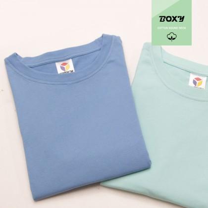 BOXY Premium Cotton Round Neck T-shirt - Royal Blue