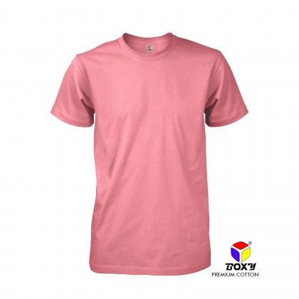 BOXY Premium Cotton Round Neck T-shirt - Coral