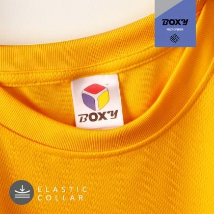 BOXY Microfiber Round Neck Plain T-shirt (Sea Blue)