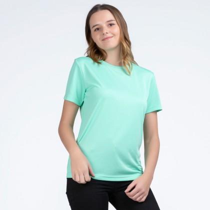 BOXY Microfiber Round Neck Plain T-shirt (Cool Mint)