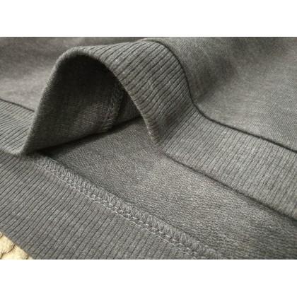 BOXY Ladies Baju Long Sleeves Fleeced Sweater - Dark Heather