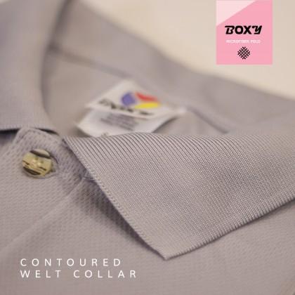 BOXY Microfiber Classic Short Sleeve Polo Shirt (Black)