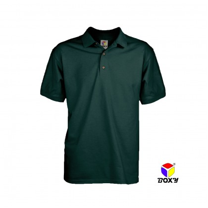 BOXY Microfiber Classic Short Sleeve Polo Shirts (Forest Green)