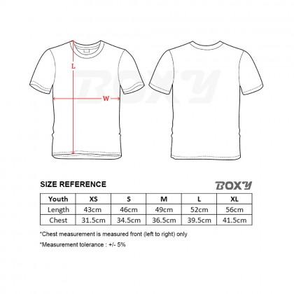 BOXY Youth Microfiber Round Neck T-shirt - Purple