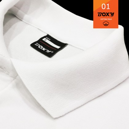 BOXY Cotton Classic Polo Shirts (Black)