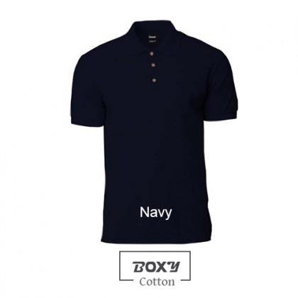 BOXY Cotton Classic Polo Shirts (Navy)