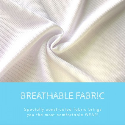 BOXY Microfiber Classic Short Sleeve Polo Shirts with Collar (Sea Blue)