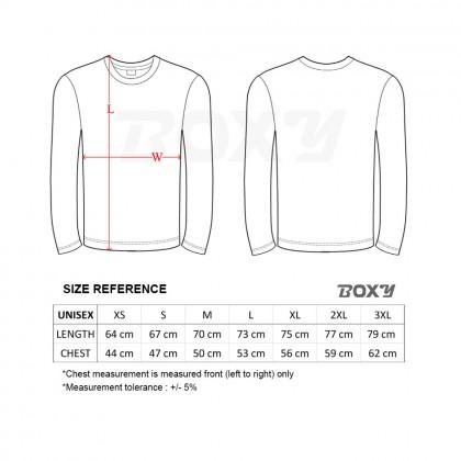 BOXY Microfiber Round Neck Long Sleeves Plain T-shirt  (White)