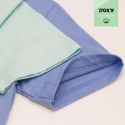 BOXY Premium Cotton Round Neck T-shirt - Forest Green